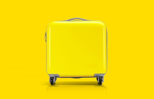Yellow suitcase or luggage for traveler