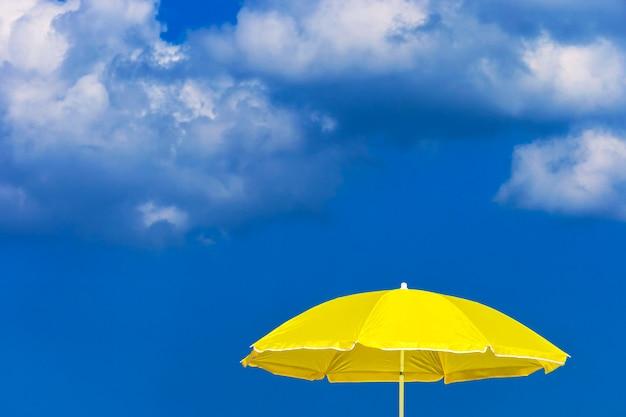 Yellow sun umbrella