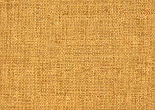 Yellow textile background from a sacking