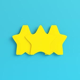 Желтые три абстрактные звезды в пастельных тонах