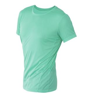あなたのデザインのモックアップの白い背景で隔離の目に見えないマネキンの黄色のtシャツテンプレート