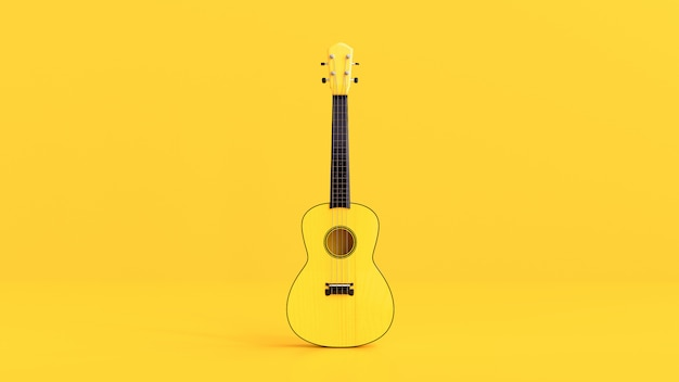 Yellow ukulele