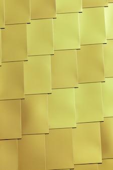 노란색 비닐 타일 벽 배경입니다. 세로 비네팅 샷