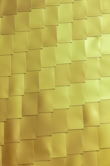 Yellow vinyl tile wall