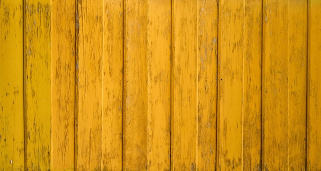 Yellow wall wooden texture background