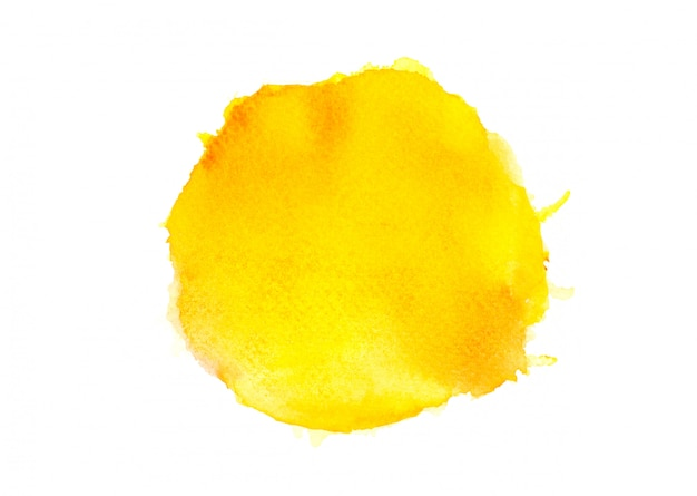 Yellow watercolor.image