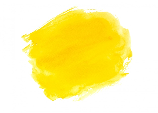 Yellow watercolor paint background texture design