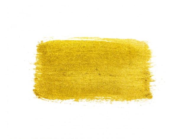 Yellow watercolor paint brush