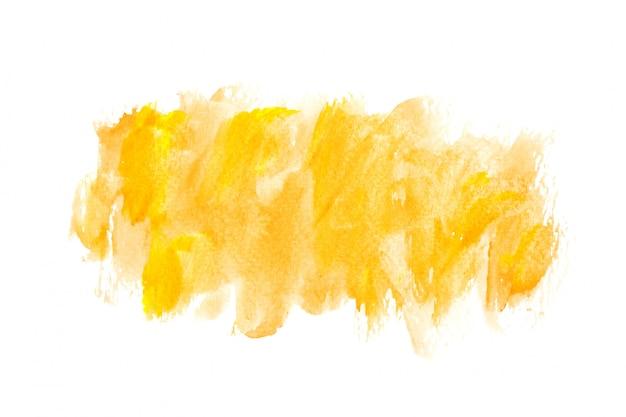 背景の黄色の水彩画のアイデア技術