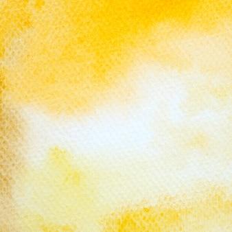흰 종이 배경 질감 노란색 수채화 그림