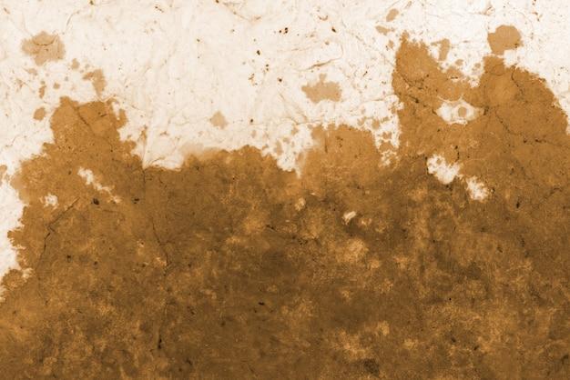 Желтая акварельная текстура на переработанной бумаге