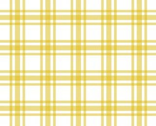 Yellow and white tablecloth pattern