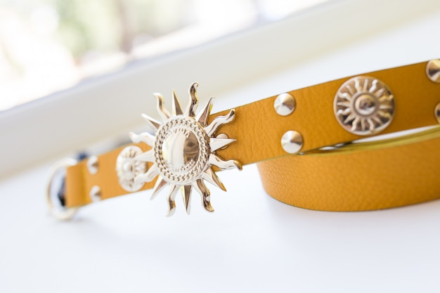 Yellow woman belt