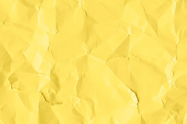 Yellow wrinkled paper pattern background