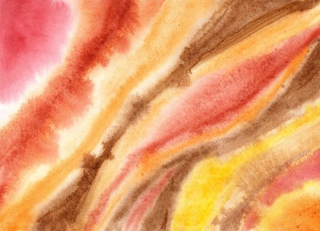 Желто-коричневый красный фон акварельной живописи этнический желтый текстиль сентябрьский фон