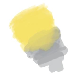 Желто-серое акварельное пятно