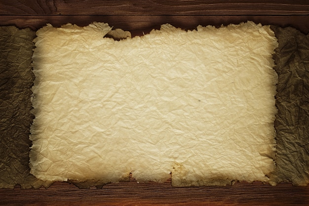 Yellowish sheet of aged paper