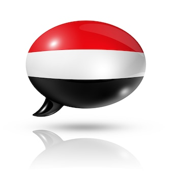 イエメン国旗吹き出し