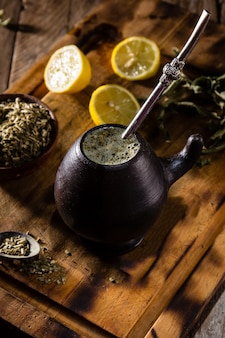 Yerba mate - latin american hot drink herb tea
