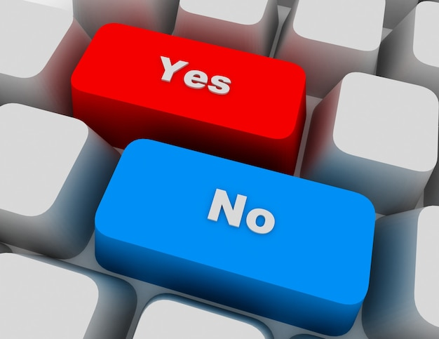 Yes and no key on keyboard