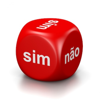 Yes or no portuguese red dice