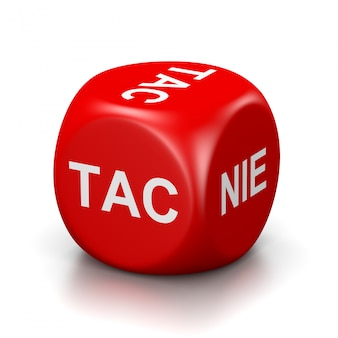 Yes or no red dice, polish language