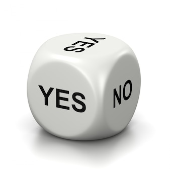 Yes or no white dice