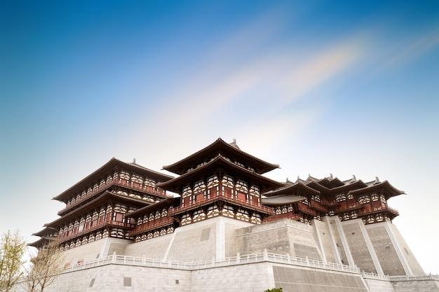 Yingtian gate is the south gate of luoyang city in the sui and tang dynasties. it was built in 605.