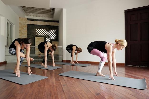 Yoga class indoors