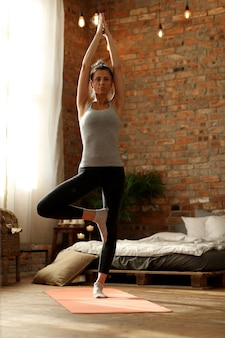 Yoga exercise at home