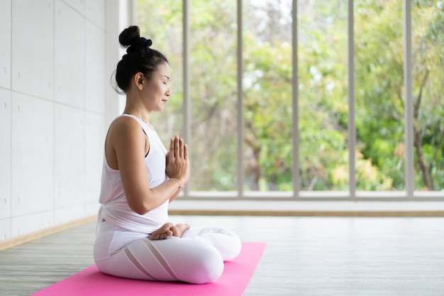 Yoga exercise.
