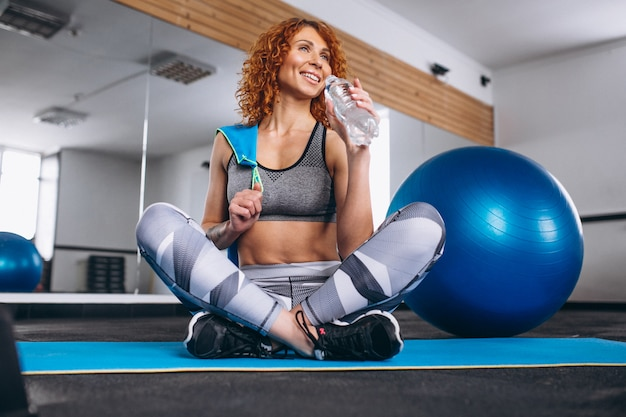 Yoga fitness trainer at the gym