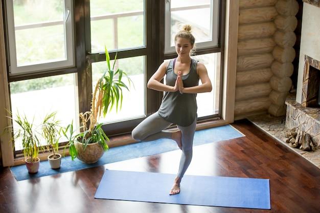 Yoga at home: tree pose