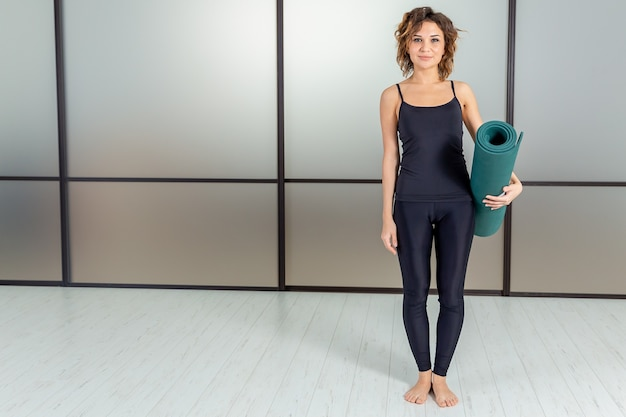 Yoga indoor concept. active life and power. meditation and relax.