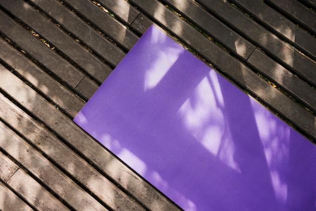 Yoga mat outdoors