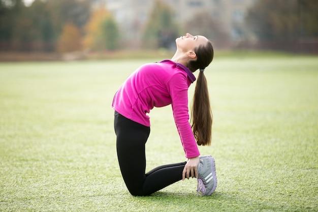 Йога на открытом воздухе: уштрасана поза