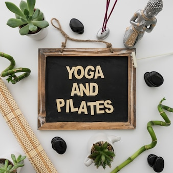Yoga and pilates lettering