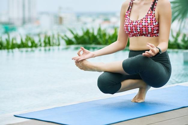 Yoga at resort