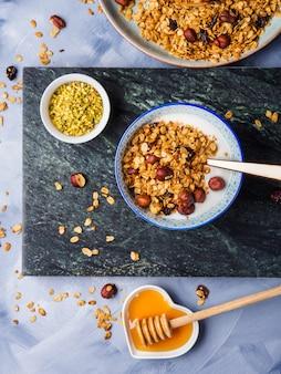 Yogurt bowl with homemade granola
