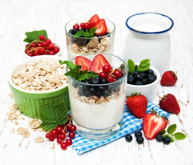 Yogurt with fresh berries