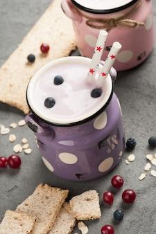 Yogurt with muesli and berries