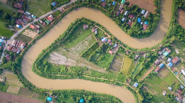Yom river at sukhothai, thailand
