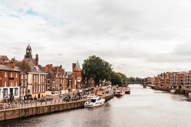 York city with river ouse in york uk.