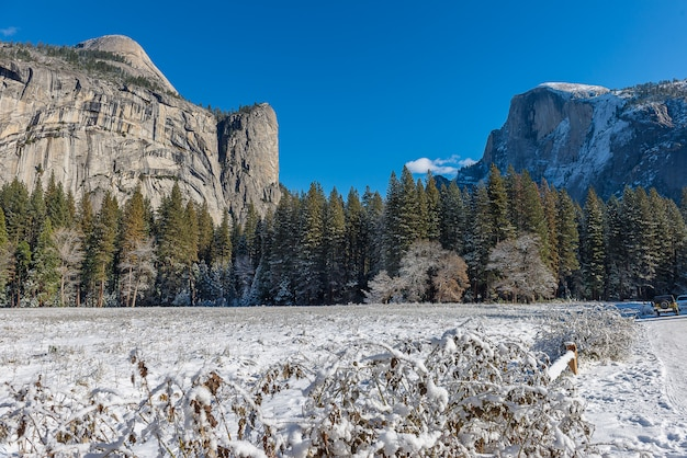 Yosemite national park during  winter