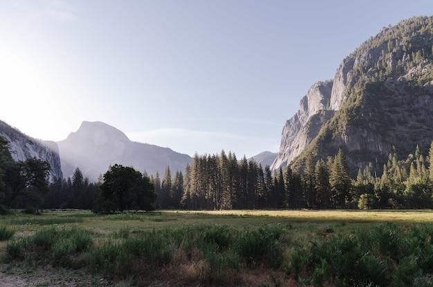 Yosemite national park in yosemite valley in the usa