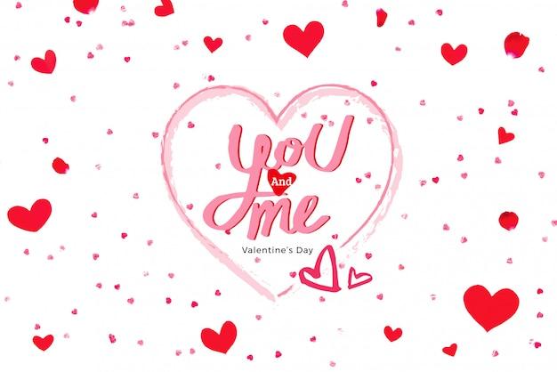 Ты и я текст поздравления с днем святого валентина в форме сердца