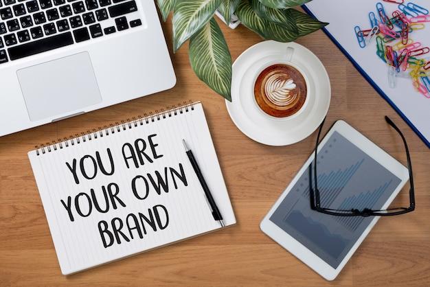 당신은 당신의 자신의 브랜드입니다. 브랜드 구축 개념