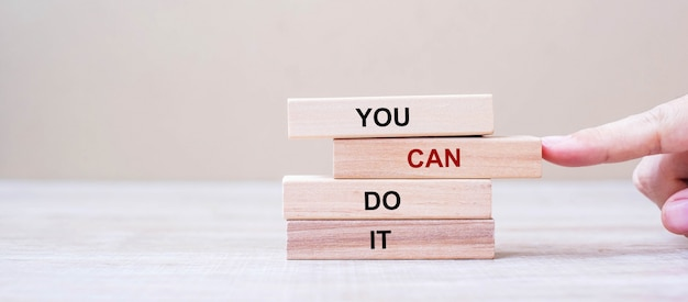 You can do it wooden blocks on table background