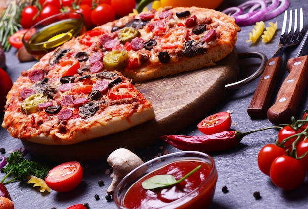 For you, the freshest fragrant pizza