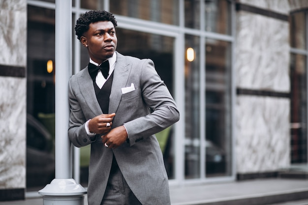 Young african businessman in classy suit